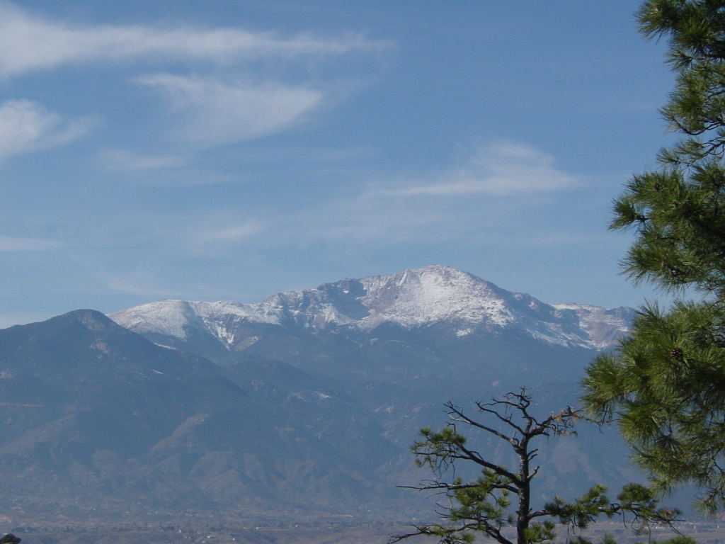 pikes peak, fourteener, mountain, colorado springs, colorado, co, palmer park,